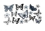 Butterflies & Flowers Flash Tattoos