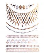 Golden Necklace Flash Tattoos