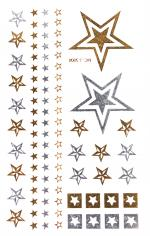 Stars Silver & Gold Flash Tattoos