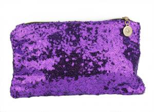 Purple Paljetto Makeup Bag