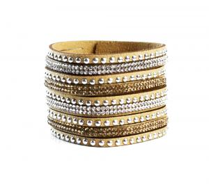 Golden Crystal Cuff