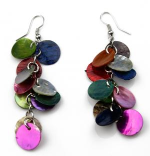 Colorful Shell Dangle
