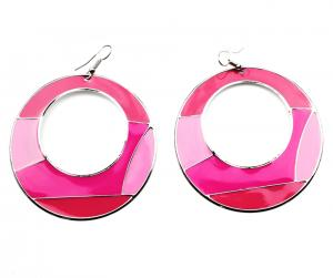 Pinked Enamel Ring