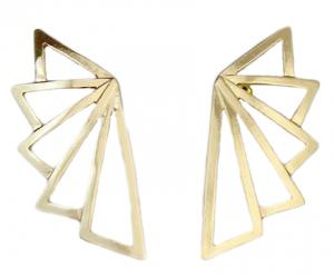 Golden Geometric Earring