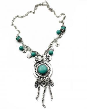 Long Tibet Turquoise Silvercolor
