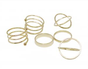 6 pcs Golden Rings