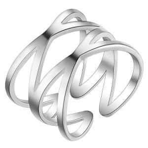 Silverplated 2X ring